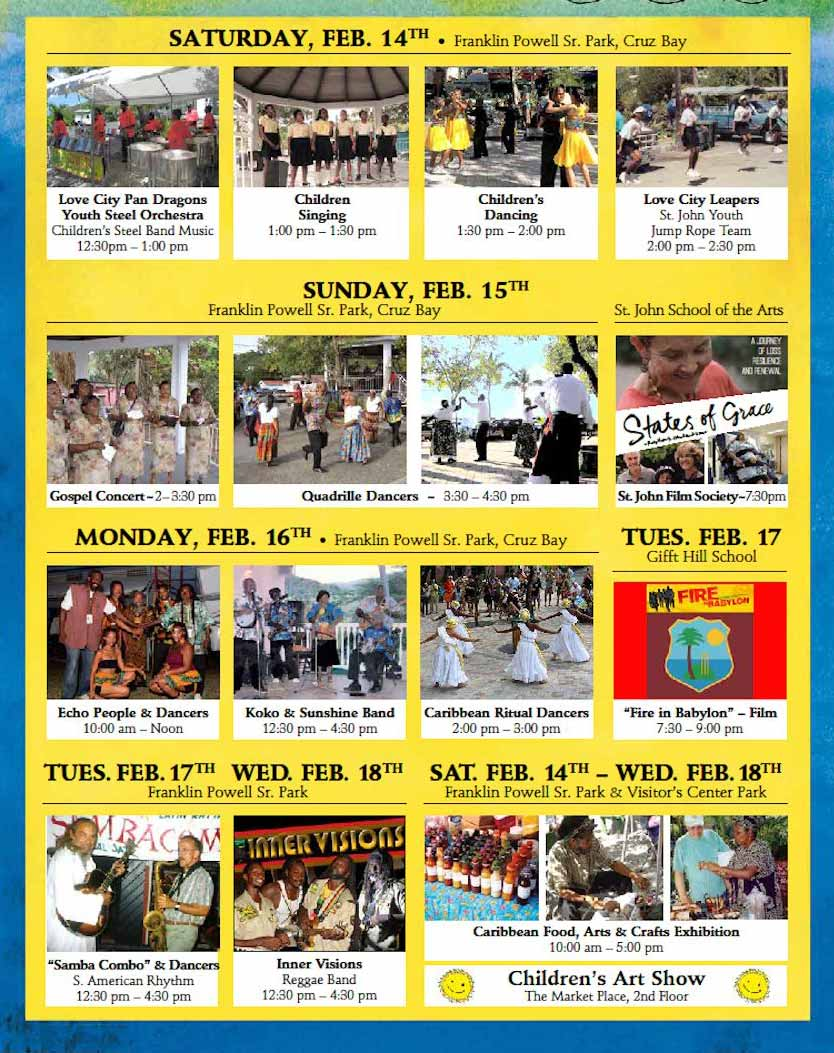Art Show Calendar : St john arts festival activities guide